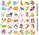vector illustration of cute... | Shutterstock .eps vector #321263474