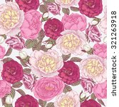 vector floral seamless pattern... | Shutterstock .eps vector #321263918