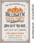 halloween night party... | Shutterstock .eps vector #321265010