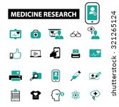 medicine  research icons | Shutterstock .eps vector #321265124