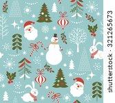 seamless christmas pattern   Shutterstock .eps vector #321265673