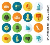 school and education icon set....   Shutterstock . vector #321268604