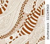 abstract zentangle doodle waves ...   Shutterstock .eps vector #321269063