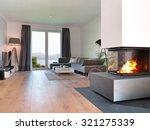 modern living room with... | Shutterstock . vector #321275339