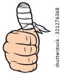 thumb with white bandage ... | Shutterstock .eps vector #321276368