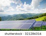 solar panels against mountain... | Shutterstock . vector #321286316