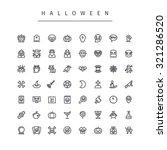 halloween line icons set.... | Shutterstock .eps vector #321286520