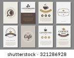 set of coffee brochures in... | Shutterstock .eps vector #321286928