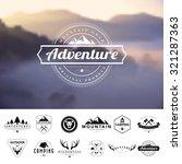 set of vintage  camping badges... | Shutterstock .eps vector #321287363
