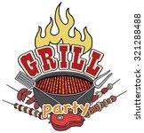 grill  barbecue symbol  icon ... | Shutterstock .eps vector #321288488