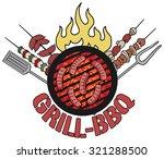 grill  barbecue symbol  icon ... | Shutterstock .eps vector #321288500