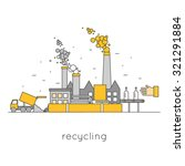 thin line waste recycling.... | Shutterstock .eps vector #321291884