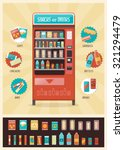 vintage vending machine... | Shutterstock .eps vector #321294479