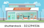 computers and electronics store ... | Shutterstock .eps vector #321294536