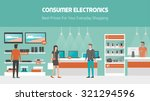 electronics store banner with... | Shutterstock .eps vector #321294596