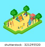 isometric 3d playground with... | Shutterstock .eps vector #321295520