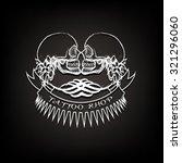 tattoo shop logo  emblem. two... | Shutterstock .eps vector #321296060