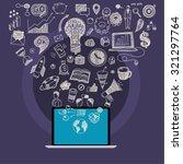 concept of online education. e... | Shutterstock .eps vector #321297764