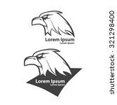 eagle for logo  american... | Shutterstock .eps vector #321298400