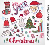 christmas doodle collection.... | Shutterstock .eps vector #321299639