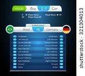 football soccer scoreboard... | Shutterstock .eps vector #321304013