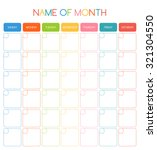 colorful blank month planning... | Shutterstock .eps vector #321304550