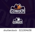 colorful cowboy hat emblem ... | Shutterstock .eps vector #321304658