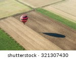 Aerial View Of An Hot Air...