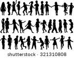 children silhouettes. | Shutterstock .eps vector #321310808
