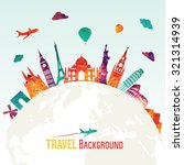 travel and tourism background | Shutterstock .eps vector #321314939