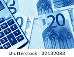 european currency banknotes | Shutterstock . vector #32132083