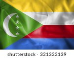 comoros islands waving flag | Shutterstock . vector #321322139
