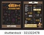 brochure or poster restaurant... | Shutterstock .eps vector #321322478