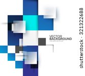 overlapping blue squares... | Shutterstock .eps vector #321322688