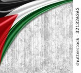 palestine flag  of  silk with... | Shutterstock . vector #321326363