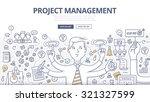 doodle style concept of project ... | Shutterstock .eps vector #321327599