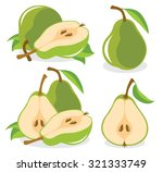 vector pears. whole and cut in... | Shutterstock .eps vector #321333749
