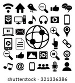 social media icon set vector | Shutterstock .eps vector #321336386