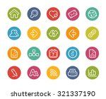 web navigation icons   ... | Shutterstock .eps vector #321337190