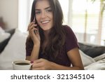 coffee and chit chatting with... | Shutterstock . vector #321345104