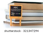 small blackboard with alphabet... | Shutterstock . vector #321347294