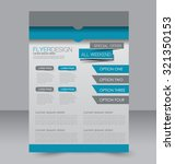 brochure template. business... | Shutterstock .eps vector #321350153