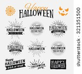 happy halloween poster on... | Shutterstock .eps vector #321351500