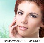 portrait happy  healthy women | Shutterstock . vector #321351830
