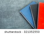colorful note book on the black ... | Shutterstock . vector #321352553
