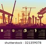 under construction bridge | Shutterstock .eps vector #321359078
