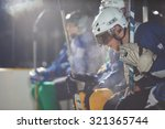 ice hockey players   group of... | Shutterstock . vector #321365744