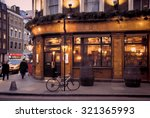 Stock photo london pub illustration 321365993