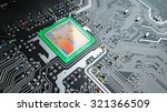 cpu on printed circuit board ... | Shutterstock . vector #321366509
