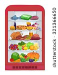 fridge with food. the set of... | Shutterstock .eps vector #321366650